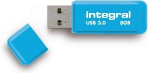 Integral Neon USB 3.0 Flash Lecteur 8GB Lecteur (Blue)