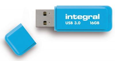 Integral Neon USB 3.0 Flash Lecteur 16GB Lecteur (Blue)