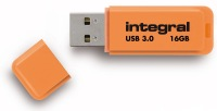 Integral Neon USB 3.0 Flash Lecteur 16GB Lecteur (Orange)