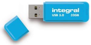 Integral Neon USB 3.0 Flash Lecteur 32GB Lecteur (Blue)