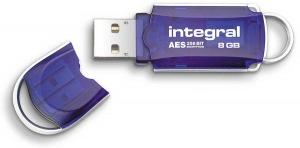 Integral Courier Lecteur Crypté USB - (FIPS 197) 8GB Lecteur