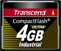 Transcend Industrial Ultra Compact Flash 4GB Carte (100x)