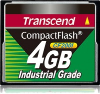 Transcend Industrial Ultra Compact Flash 4GB Carte (200x)
