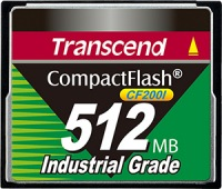 Transcend Industrial Ultra Compact Flash 512MB Carte (200x)
