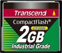 Transcend Industrial Ultra Compact Flash 2GB Carte (200x)